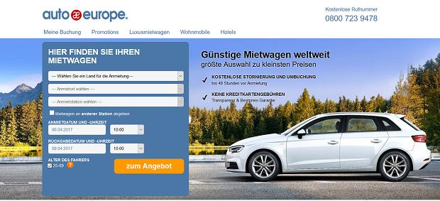Autoeurope - günstige Mietwagen mit Mietwagen-Vergleich